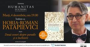 """Lansare """"Două eseuri despre paradis și o încheiere"""", de Horia-Roman Patapievici"""