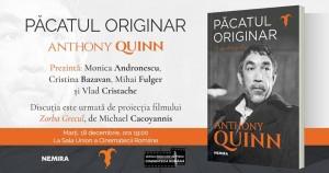 Lansarea autobiografiei lui Anthony Quinn și proiecția filmului