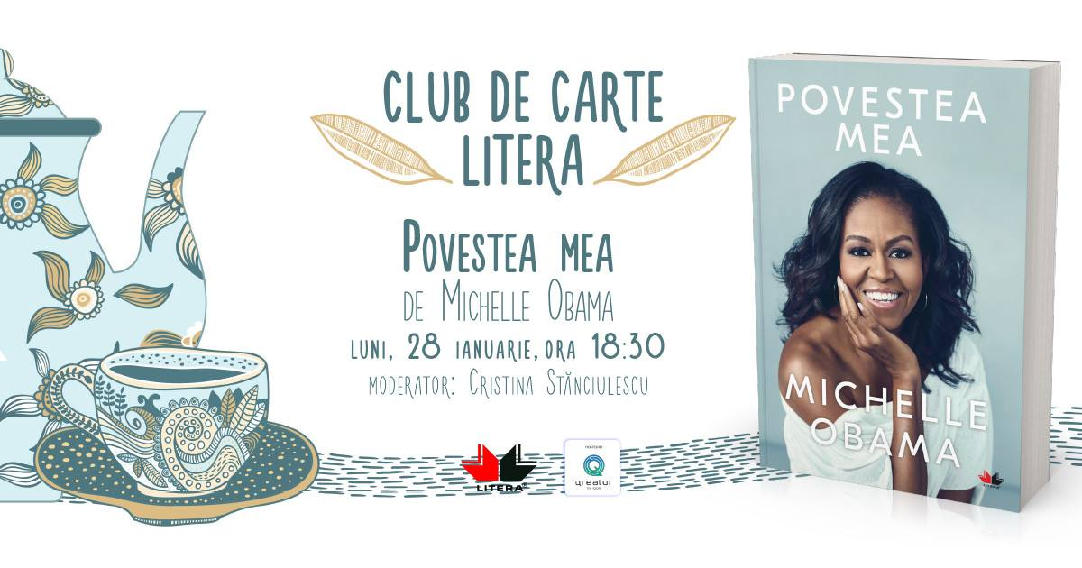 "Club de carte Litera #50: ""Povestea mea"", de Michelle Obama"