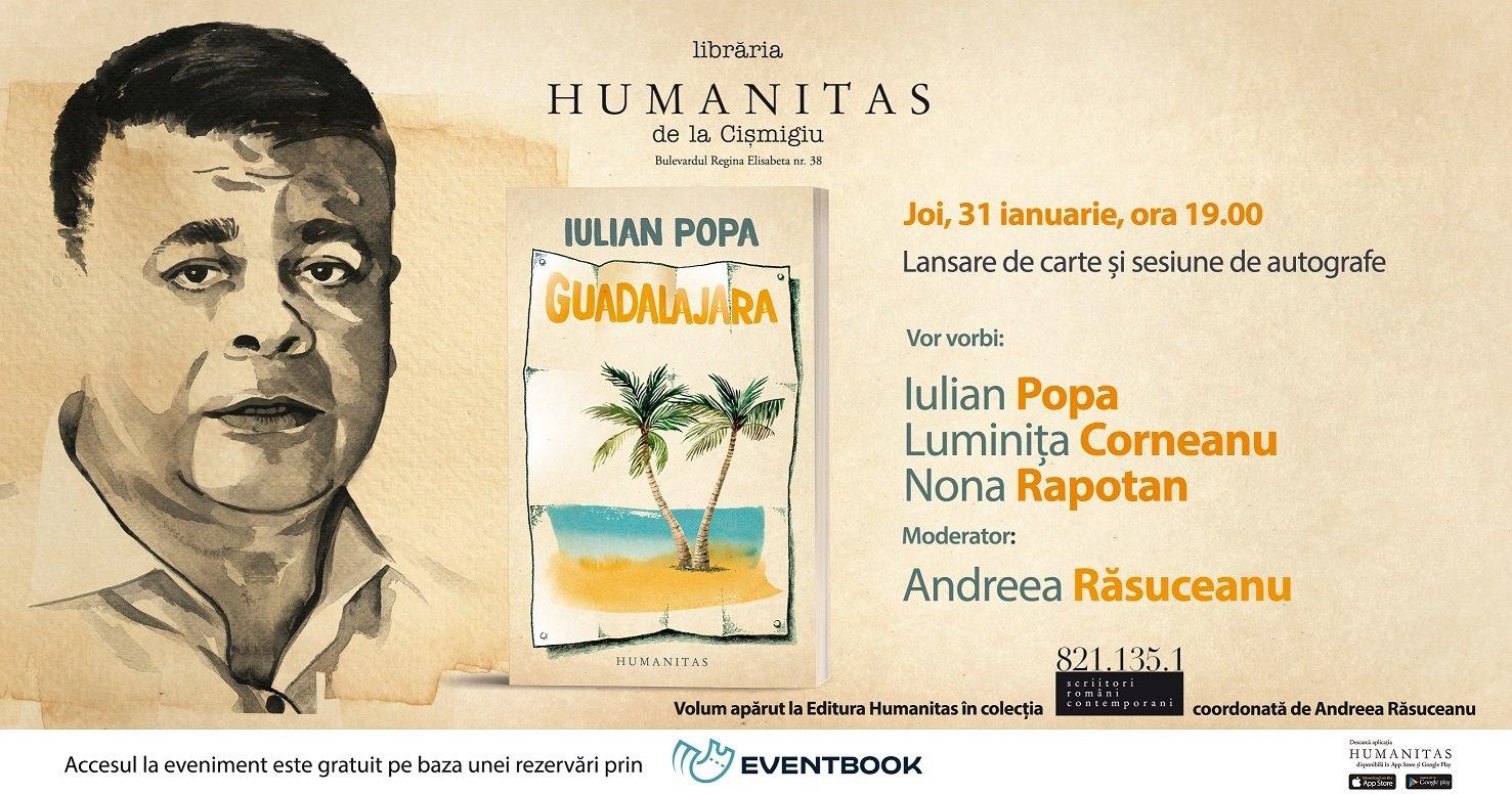 "Lansare ""Guadalajara"", volum de povestiri de Iulian Popa"