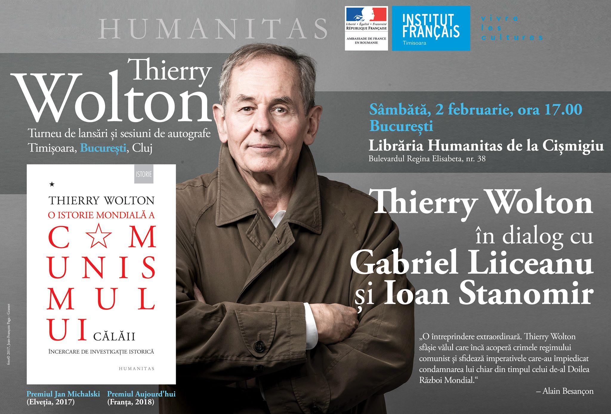 Thierry Wolton în dialog cu Gabriel Liiceanu și Ioan Stanomir