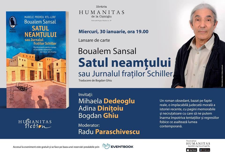 """Lansare Boualem Sansal, """"Satul neamțului"""""""