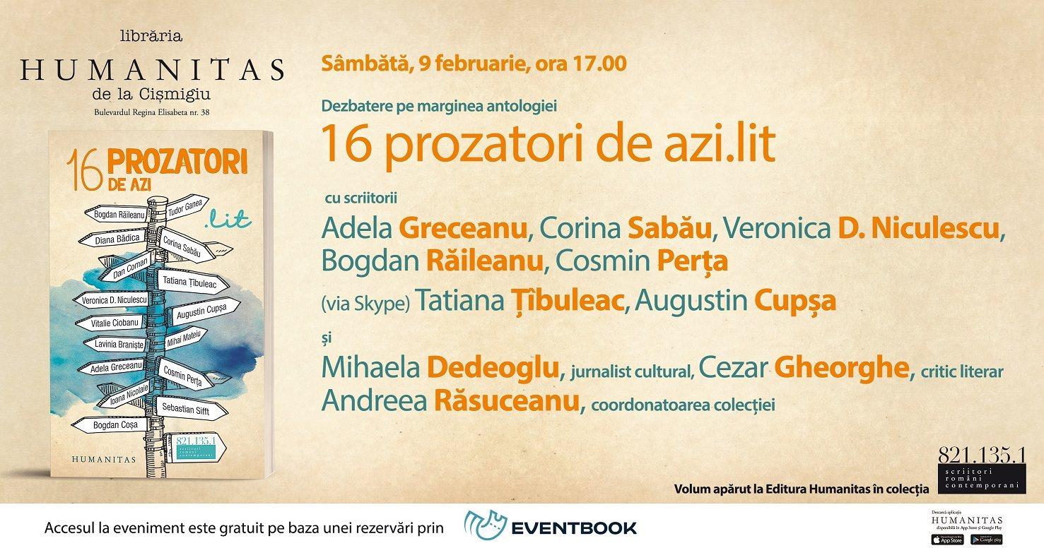"""Dezbatere pe marginea antologiei """"16 prozatori de azi.lit"""""""