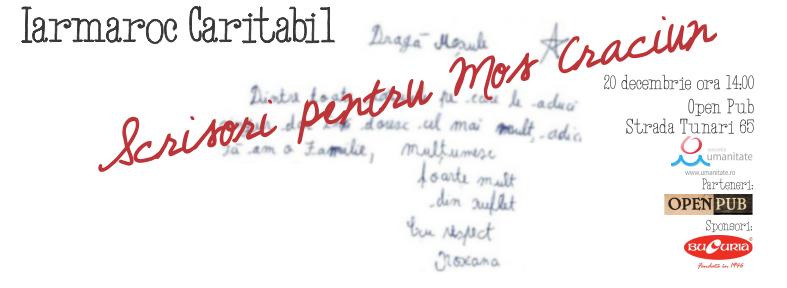 Iarmaroc Caritabil: Scrisori pentru Moș Crăciun