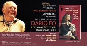 """Lansare """"Ca din întâmplare femeie. Regina Cristina a Suediei"""", de Dario Fo"""