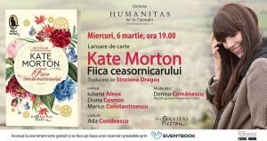 """Lansare Kate Morton , """"Fiica ceasornicarului"""""""