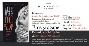 """Lansare """"Eros și agape. Prefaceri ale iubirii creștine"""", de Anders Nygren"""