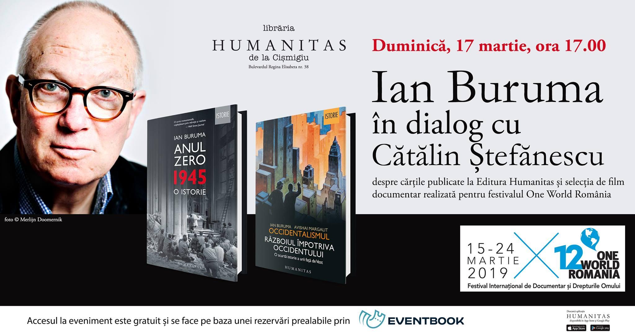 Ian Buruma în dialog cu Cătălin Ștefănescu