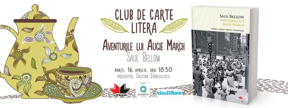 "Club de carte Litera #53: ""Aventurile lui Augie March"", de Saul Bellow"