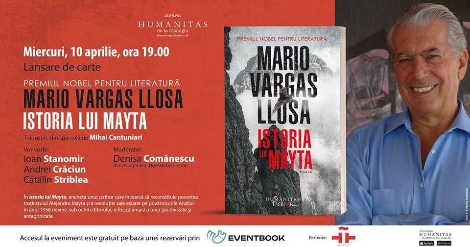 """Lansare de carte, """"Istoria lui Mayta"""", de Mario Vargas Llosa"""