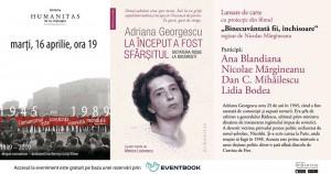 """Lansare """"La început a fost sfârșitul"""", de Adriana Georgescu"""