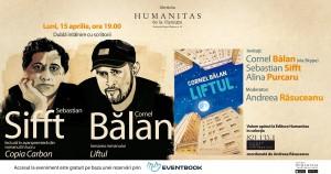 Lansare Cornel Bălan și lectură în avanpremieră Sebastian Sifft