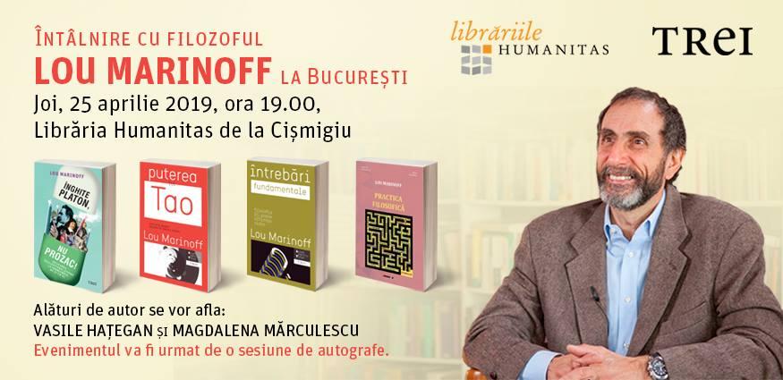 Întâlnire cu filozoful Lou Marinoff la București