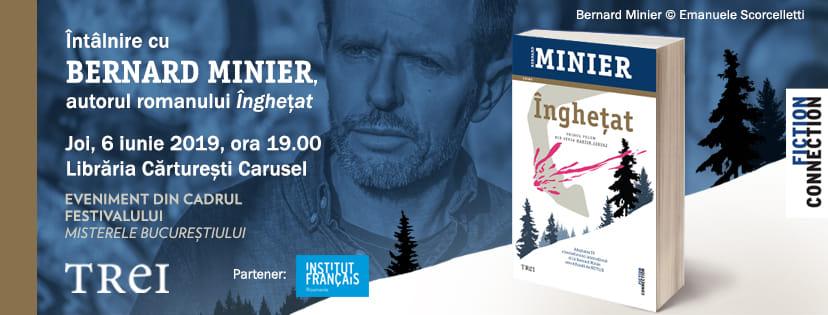 """Întâlnire cu Bernard Minier, autorul romanului """"Înghețat"""""""