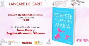"""Lansare - """"Poveste pentru Maria"""", de Ioana Bâldea Constantinescu"""