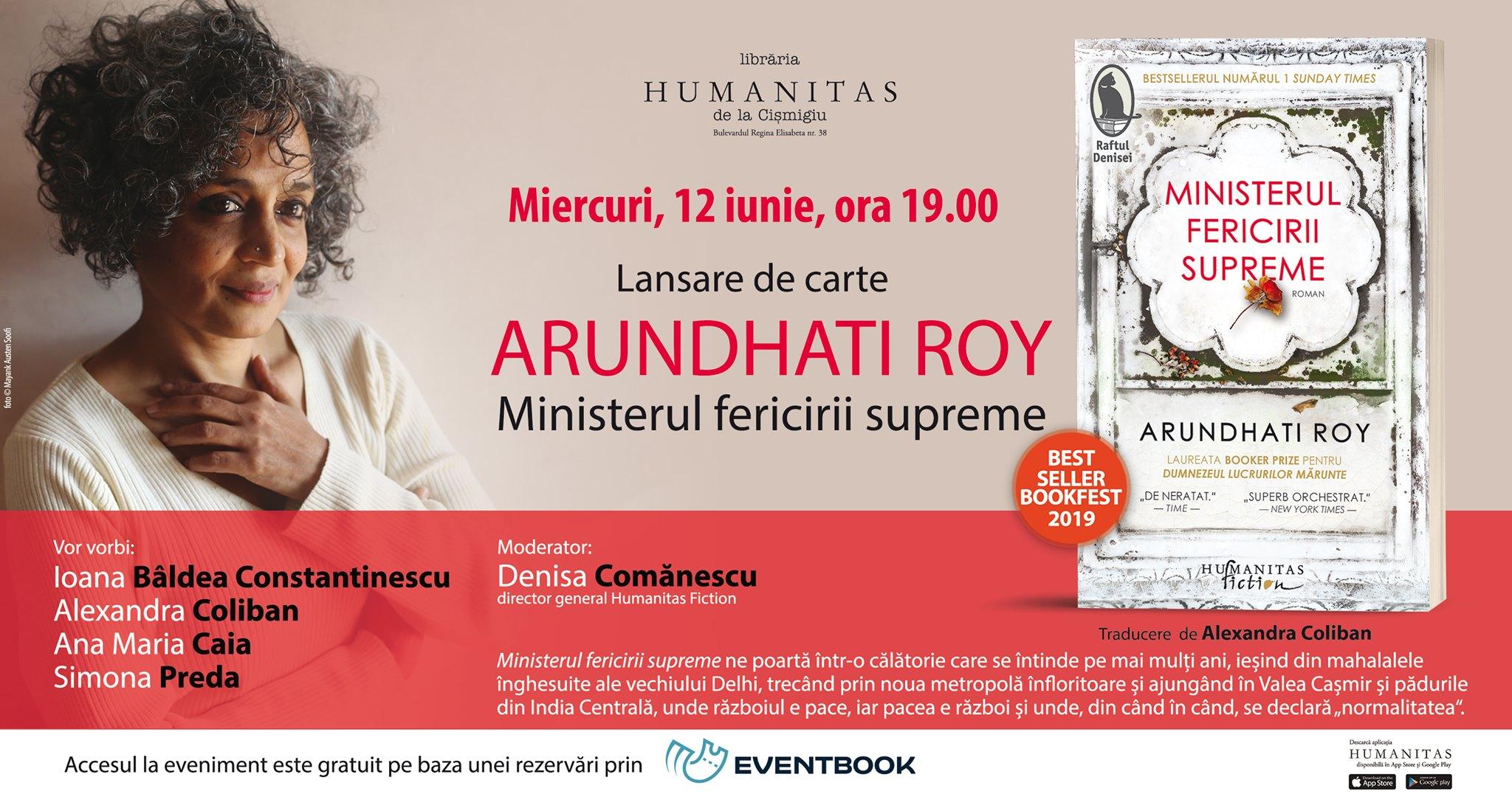 """Lansare """"Ministerul fericirii supreme"""", de Arundhati Roy"""