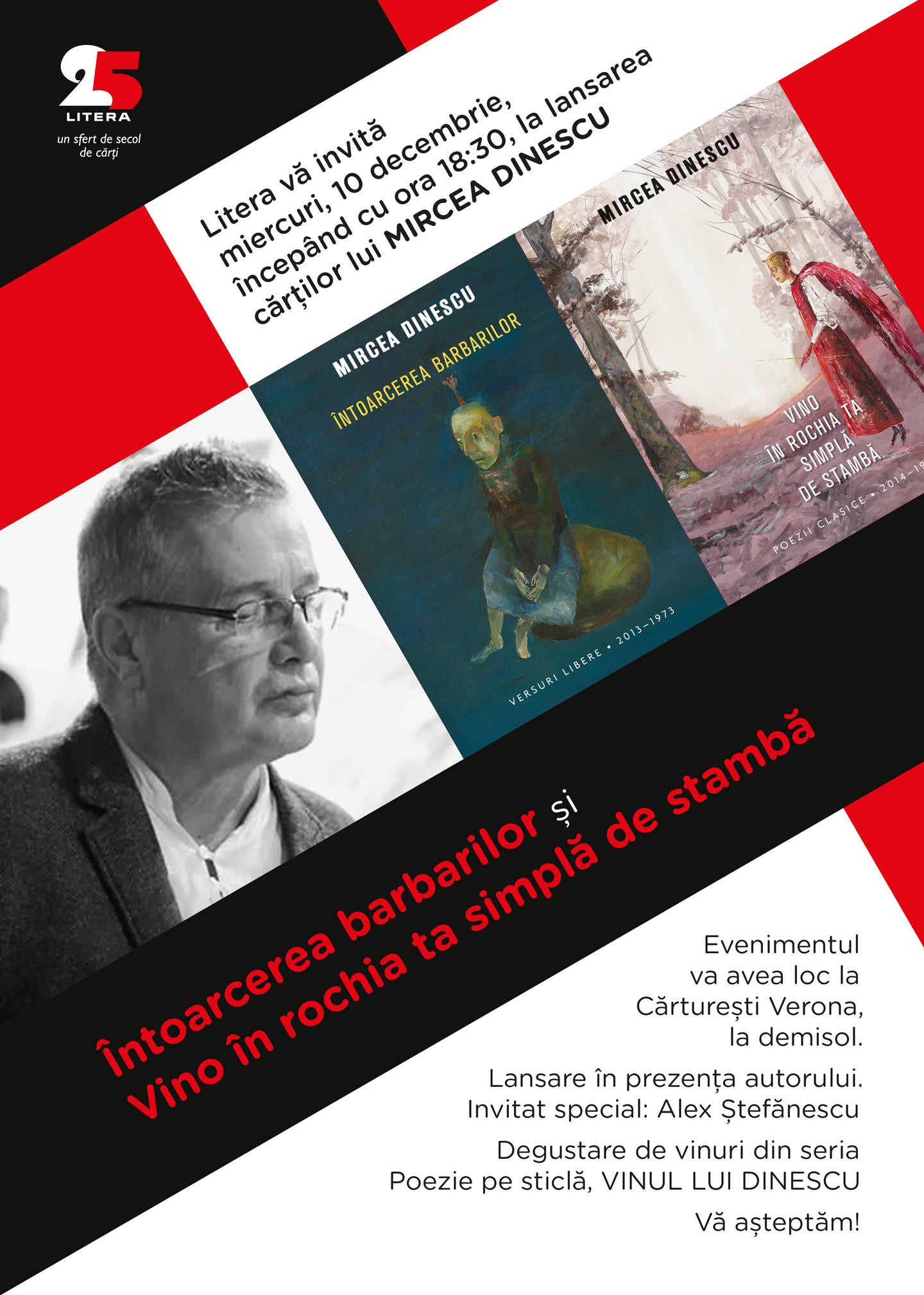 Lansare Mircea Dinescu la Cărturești Verona