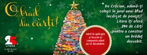 """Editura Litera lansează campania """"O, brad din cărți!"""""""