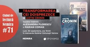 """Club de lectură #71 - seria """"Transformarea"""", de Justin Cronin"""