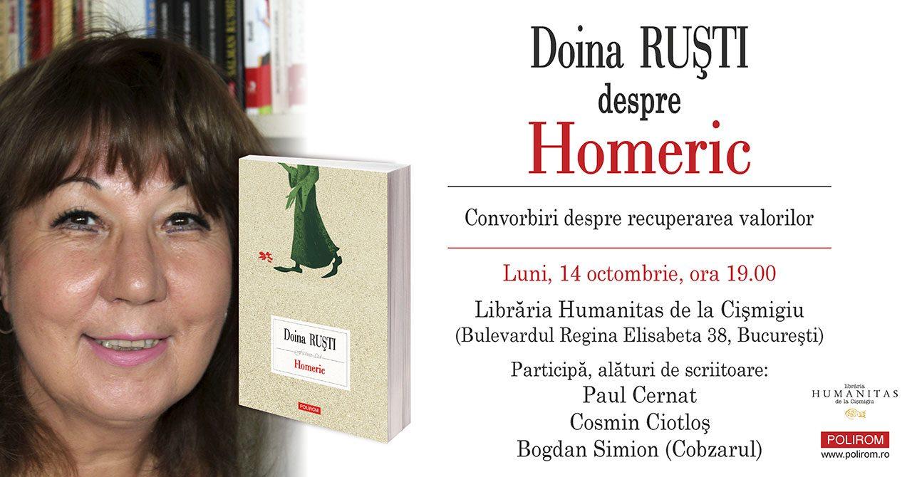 Doina Ruști despre Homeric la Librăria Humanitas de la Cișmigiu