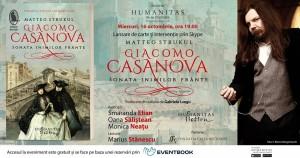 """Seară italiană: """"Giacomo Casanova. Sonata inimilor frânte"""", de Matteo Strukul"""