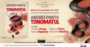 """Lansare """"Tonomatul""""- povestiri fantastice de Andrei Panțu"""