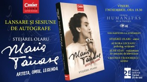 """Lansare """"Maria Tănase. Artista, omul, legenda"""", de Stejărel Olaru"""