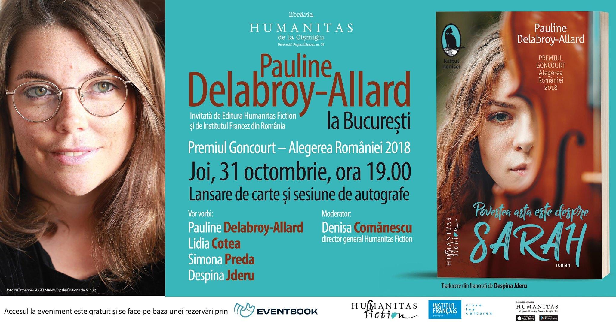 "Lansare ""Povestea asta este despre Sarah"",  de  Pauline Delabroy–Allard"