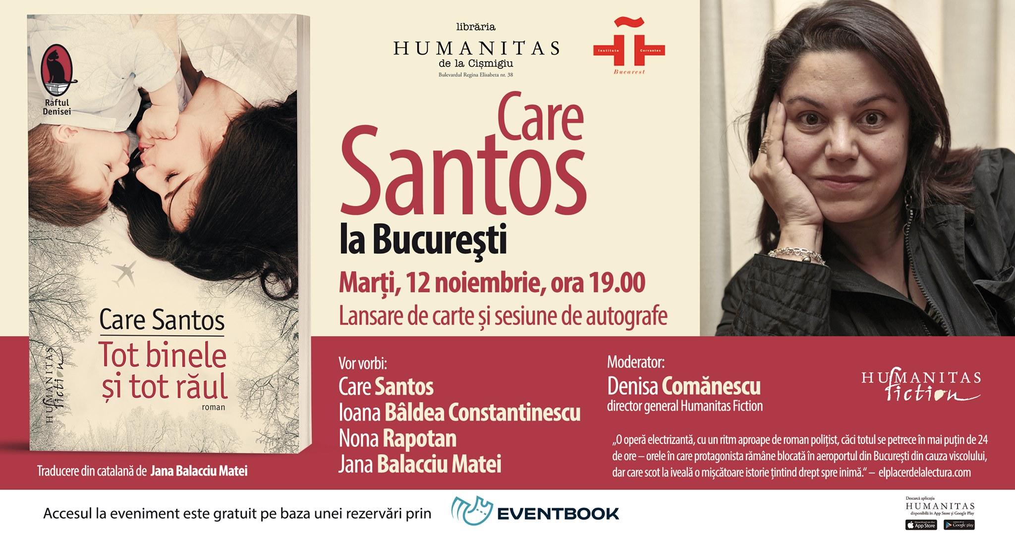 """Care Santos la București. Lansare """"Tot binele și tot răul"""""""