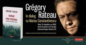 Grégory Rateau în dialog cu Marius Constantinescu la Cişmigiu