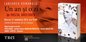 """Pascal Bruckner lansează la București romanul """"Un an și o zi"""""""