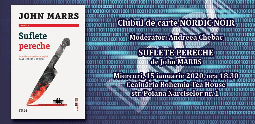 "Clubul de carte Nordic Noir: ""Suflete pereche"", de John Marrs"