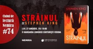 """Club de lectură #74 - """"Străinul"""", de Stephen King"""