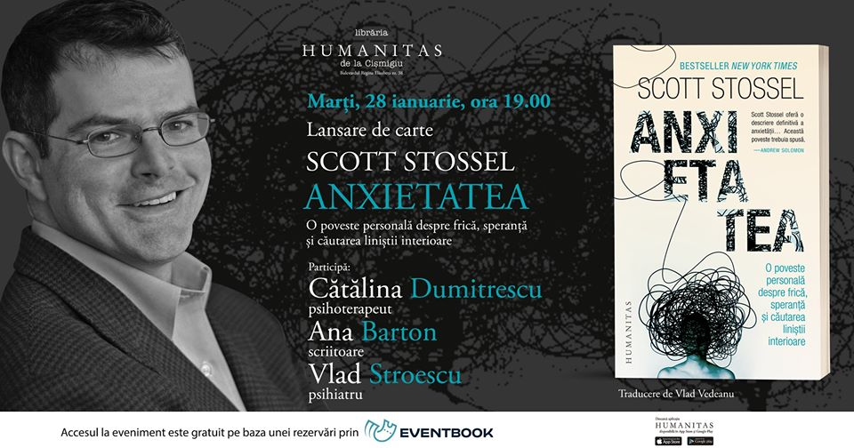 """""""Anxietatea"""": dezbatere și lansare de carte la Humanitas Cișmigiu"""