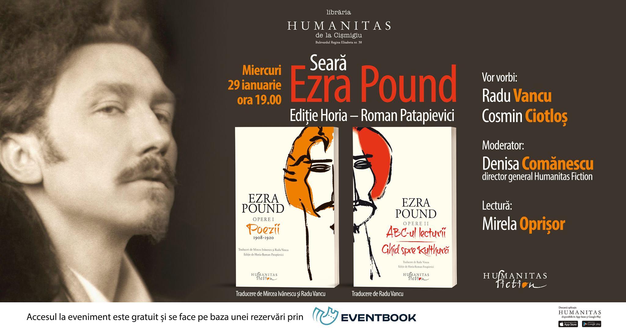 Seară dedicată lui Ezra Pound