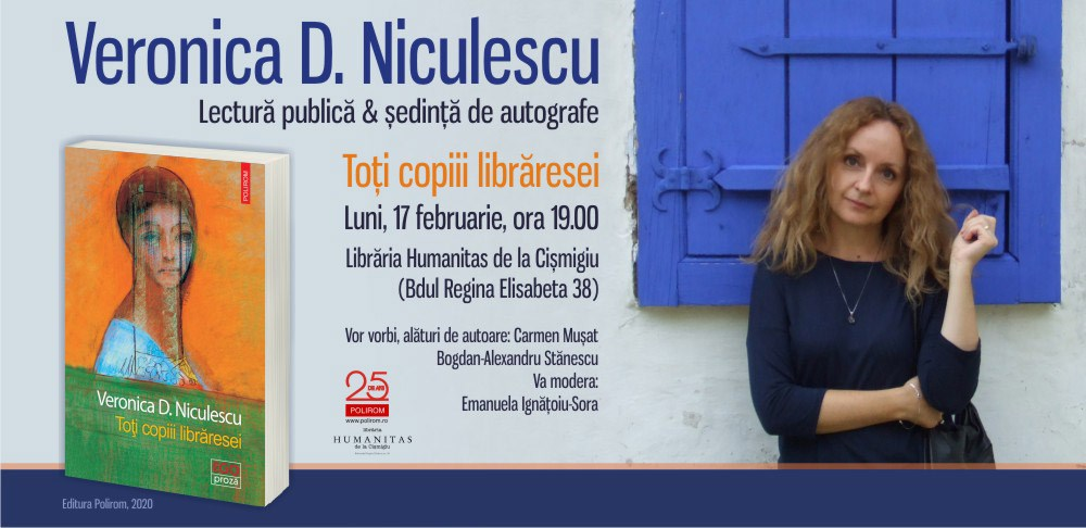 """Lectură publică: Veronica D. Niculescu, """"Toți copiii librăresei"""""""