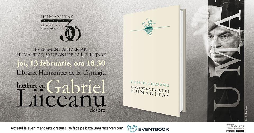 """Întâlnire cu Gabriel Liiceanu despre """"Povestea insulei Humanitas"""""""