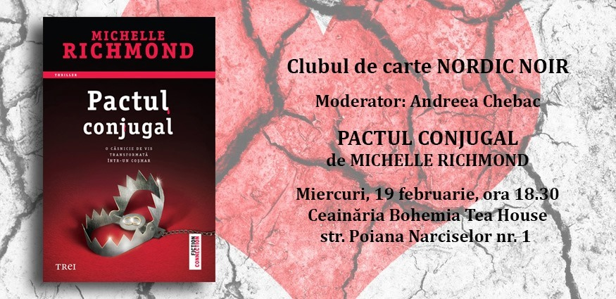 "Clubul de carte Nordic Noir: ""Pactul conjugal"", de Michelle Richmond"