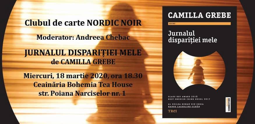 """Clubul de carte Nordic Noir: """"Jurnalul dispariției mele"""", de Camilla Grebe"""