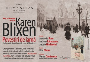 """Seară Karen Blixen, """"Povestiri de iarnă"""""""