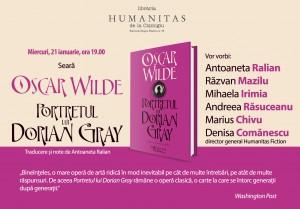 """Lansare de carte, """"Portretul lui Dorian Gray"""", de Oscar Wilde"""