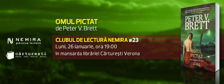 """Clubul de lectură Nemira #23, """"Omul pictat"""", de Peter V. Brett"""
