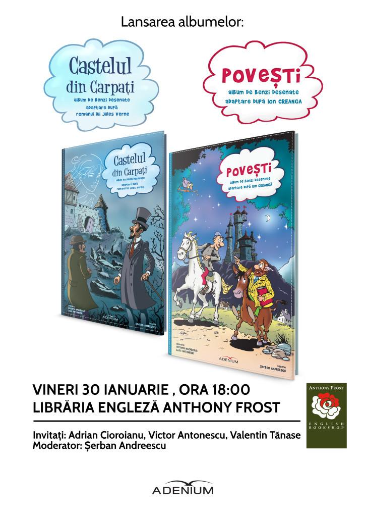 Dublă lansare de cărți Adenium la București