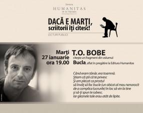 Seară de lectură cu T.O. Bobe la Librăria Humanitas de la Cişmigiu