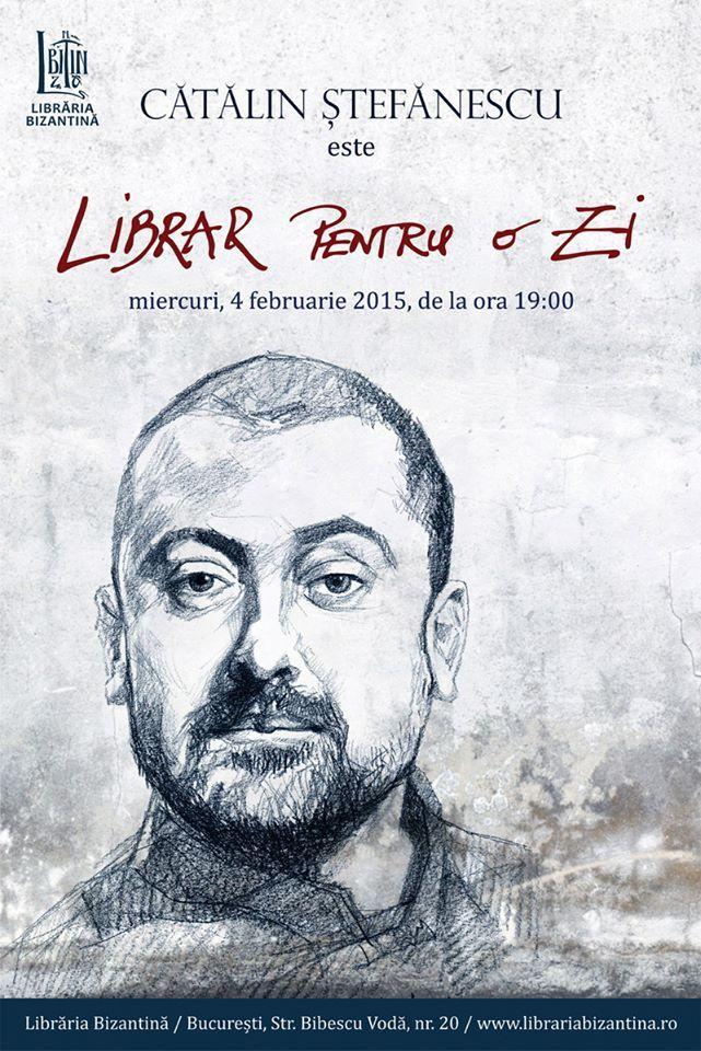 Librar pentru o zi, invitat Cătălin Ștefănescu