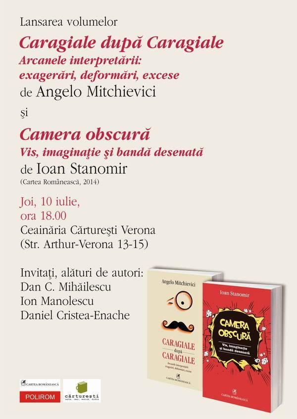 Lansare de carte, Ioan Stanomir și Angelo Mitchievici la Cărturești Verona