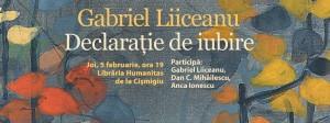 """Lansare """"Declaraţie de iubire"""" de Gabriel Liiceanu"""