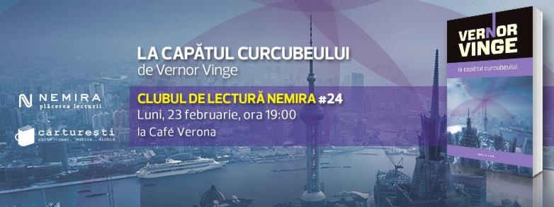 """Clubul de lectură Nemira #24 - """"La capătul curcubeului"""", de Vernor Vinge"""