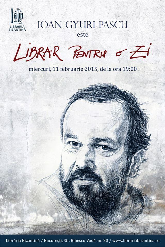 Librar pentru o zi, invitat Ioan Gyuri Pascu