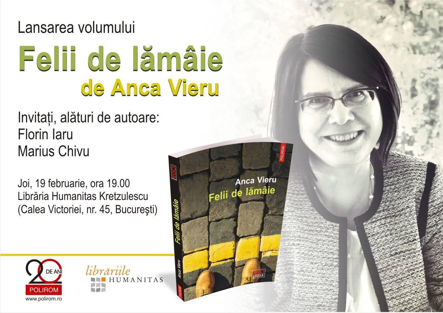 """Lansare de carte """"Felii de lămâie"""" de Anca Vieru"""
